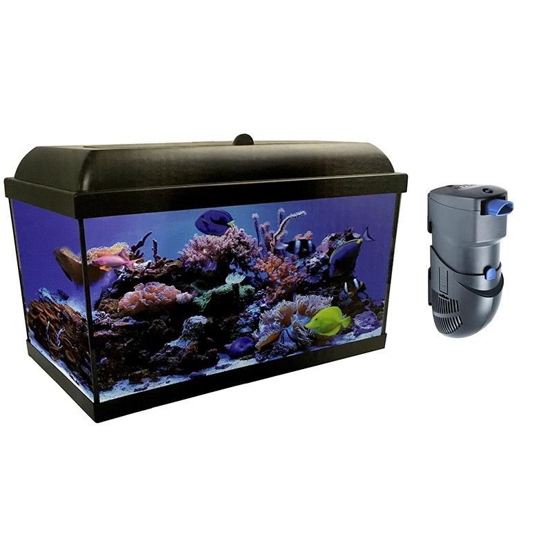Kit completo aqualed pro hydra de 80 litros con filtro hydra for Accesorios para acuarios marinos