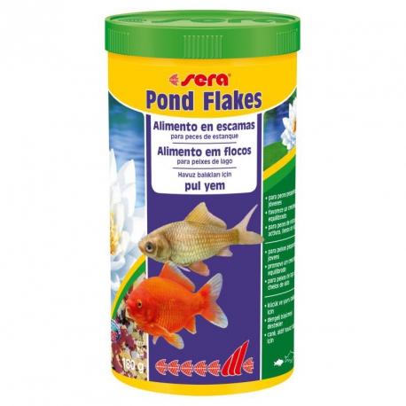 Sera pond flakes alimento en escamas para peces de estanque for Alimento peces estanque