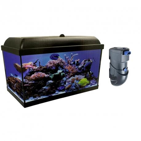 Kit completo aqualed pro hydra de 120 litros con filtro hydra for Filtro acuario marino